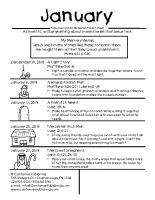 Parent Sheet for January