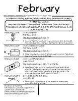 Parent Sheet for February