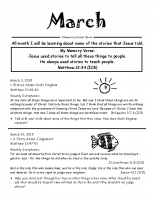 Parent Sheet for March