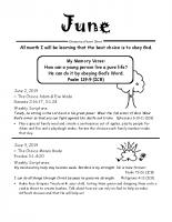 Parent Sheet for June