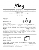 Parent Sheet for May