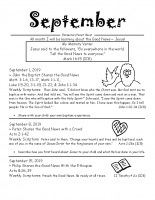 Parent Sheet for September