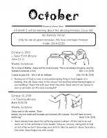 Parent Sheet for October