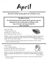 Parent Sheet for April